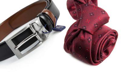 zestaw na prezent : krawat + pasek m693