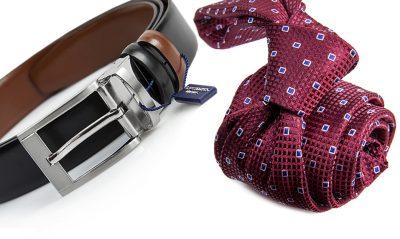 zestaw na prezent : krawat + pasek m695