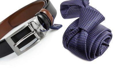 zestaw na prezent : krawat + pasek m700