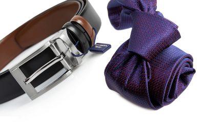 zestaw na prezent : krawat + pasek m701