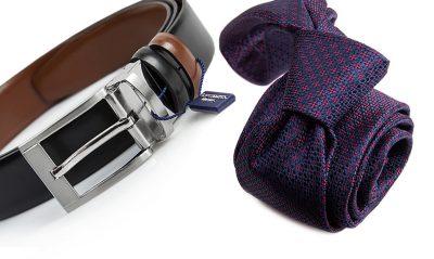 zestaw na prezent : krawat + pasek m702