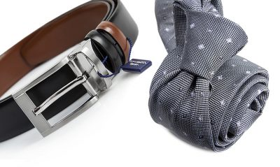 zestaw na prezent : krawat + pasek m704