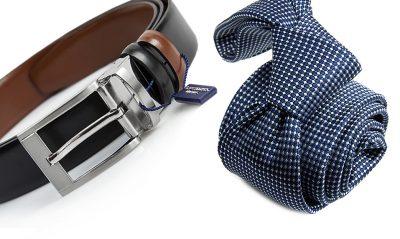 zestaw na prezent : krawat + pasek m710