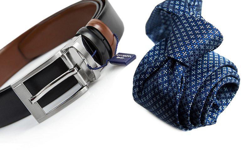 zestaw na prezent : krawat + pasek m713