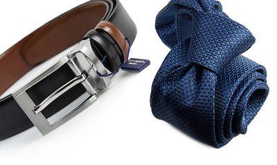 zestaw na prezent : krawat + pasek m716