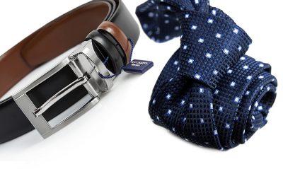 zestaw na prezent : krawat + pasek m718