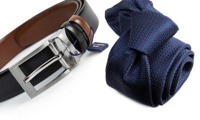 zestaw na prezent : krawat + pasek m719