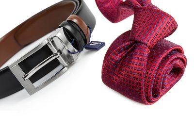 zestaw na prezent : krawat + pasek m723