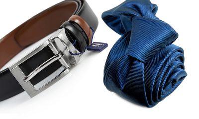 zestaw na prezent : krawat + pasek m728