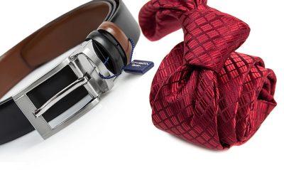 zestaw na prezent : krawat + pasek m735