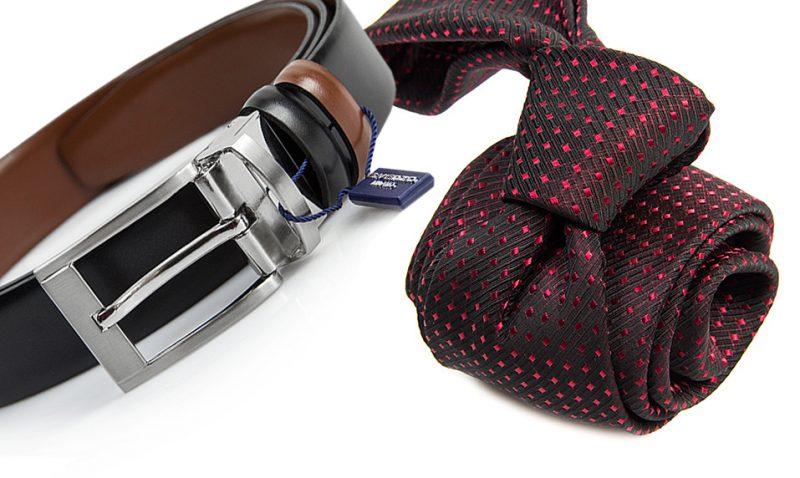 zestaw na prezent : krawat + pasek m736