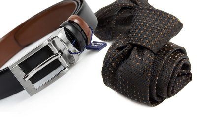 zestaw na prezent : krawat + pasek m737