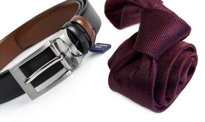 zestaw na prezent : krawat + pasek 566