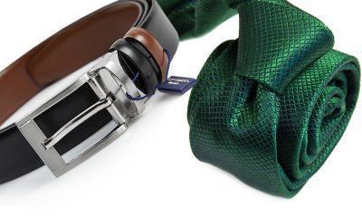 zestaw na prezent : krawat + pasek 569