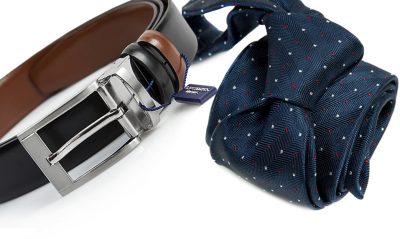zestaw na prezent : krawat + pasek 599