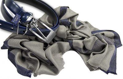 zestaw upominkowy dla żony - szalik in008 + granatowy pasek