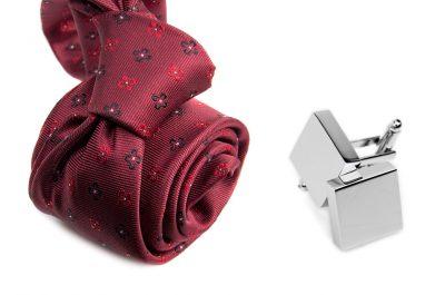 zestaw upominkowy: krawat m693 + spinki + pudełko