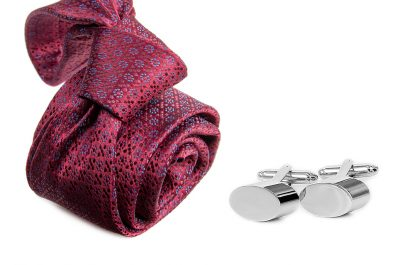 zestaw upominkowy: krawat m694 + spinki + pudełko