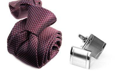 zestaw upominkowy: krawat m697 + spinki + pudełko