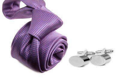 zestaw upominkowy: krawat m698 + spinki + pudełko