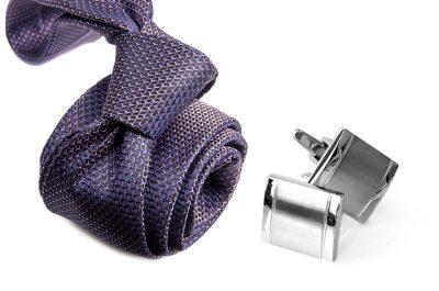 zestaw upominkowy: krawat m699 + spinki + pudełko