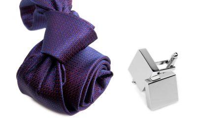 zestaw upominkowy: krawat m701 + spinki + pudełko