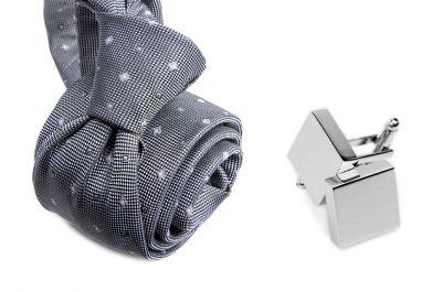 zestaw upominkowy: krawat m704 + spinki + pudełko