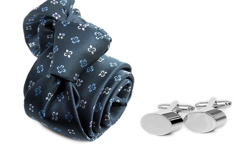 zestaw upominkowy: krawat m707 + spinki + pudełko