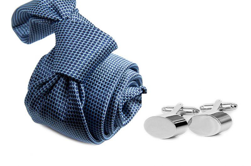zestaw upominkowy: krawat m709 + spinki + pudełko