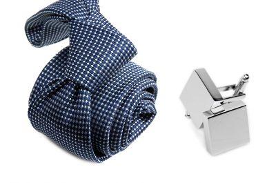 zestaw upominkowy: krawat m710 + spinki + pudełko