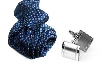 zestaw upominkowy: krawat m713 + spinki + pudełko