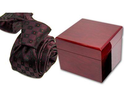 zestaw upominkowy: krawat + pudełko drewniane s551