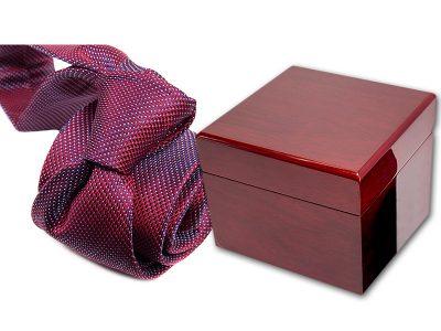 zestaw upominkowy: krawat + pudełko drewniane s558
