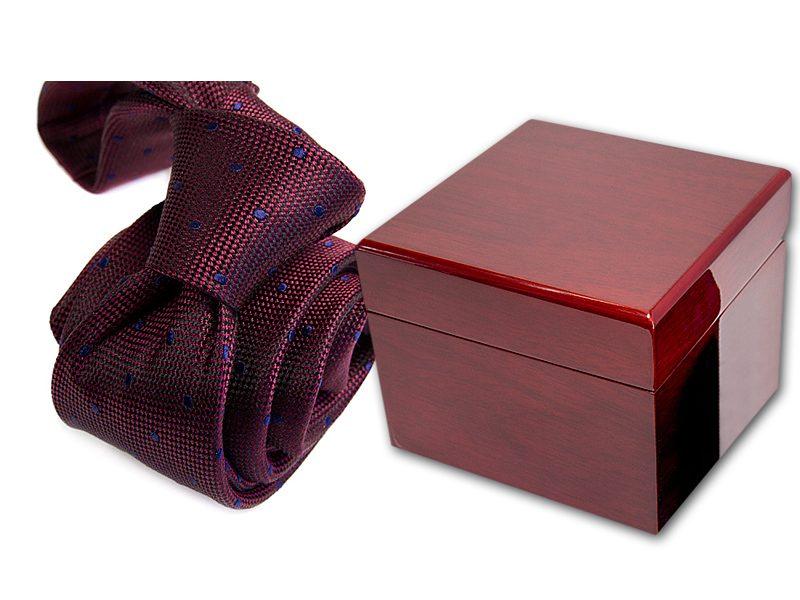 zestaw upominkowy: krawat + pudełko drewniane s566