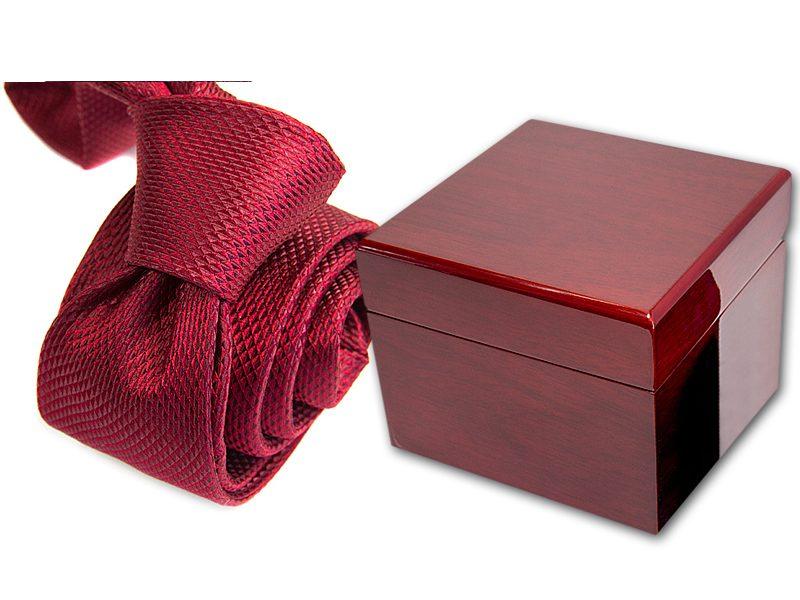 zestaw upominkowy: krawat + pudełko drewniane s568