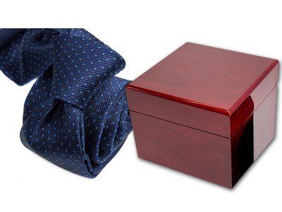zestaw upominkowy: krawat + pudełko drewniane s579