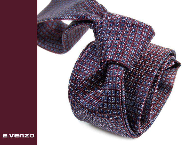 krawat jedwabny venzo 606