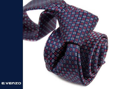 krawat jedwabny venzo 607