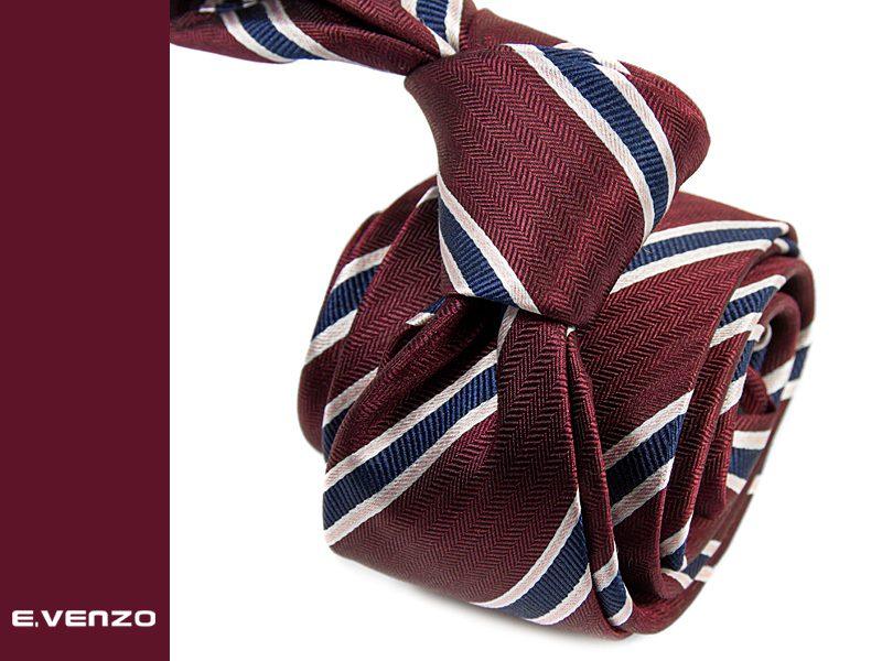 krawat jedwabny venzo 608
