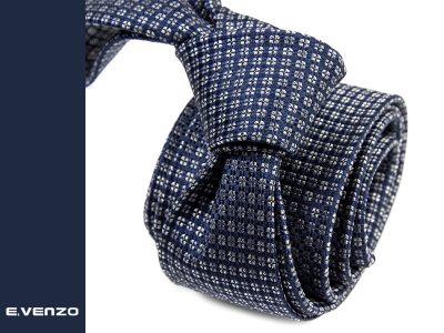 krawat jedwabny venzo 616