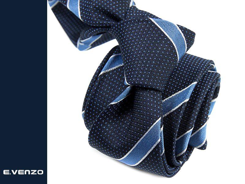 krawat jedwabny venzo 620