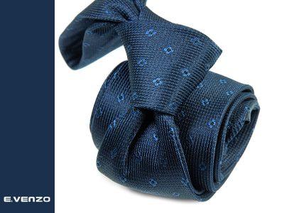 krawat jedwabny venzo 625