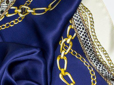 Apaszka na prezent - CHAINS-BLUE-