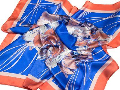apaszka jedwabna na prezent FLOWER-ROUND-2