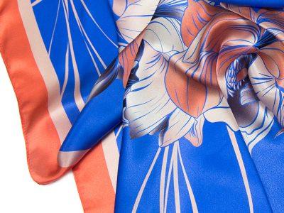 apaszka jedwabna na prezent FLOWER-ROUND-2-