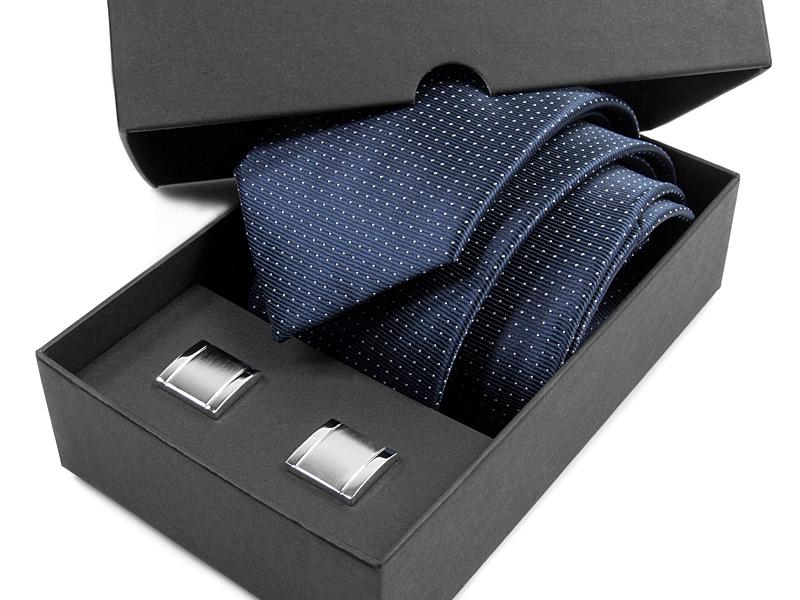 Krawat + spinki do mankietów - zestaw na prezent