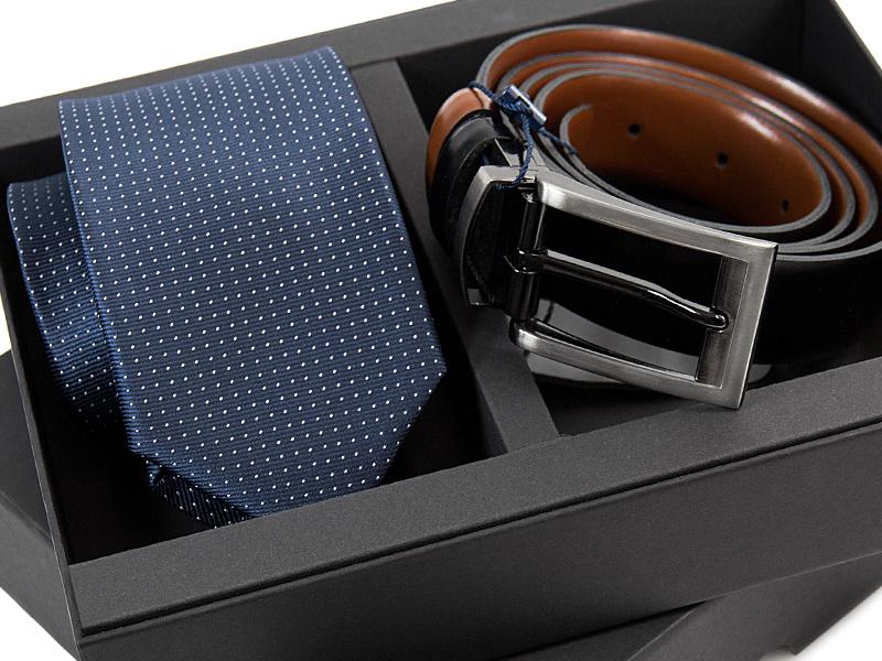 Zestaw upominkowy: krawat + pasek