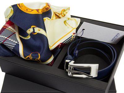 zestaw upominkowy dla żony - Apaszka ITALY-XQ5 z paskiem