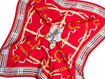 Apaszka jedwabna na prezent - CLASSIC-ITALY-DEEP-RED-SCARF