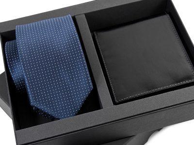 zestaw upominkowy: Krawat jedwabny 604 + portfel